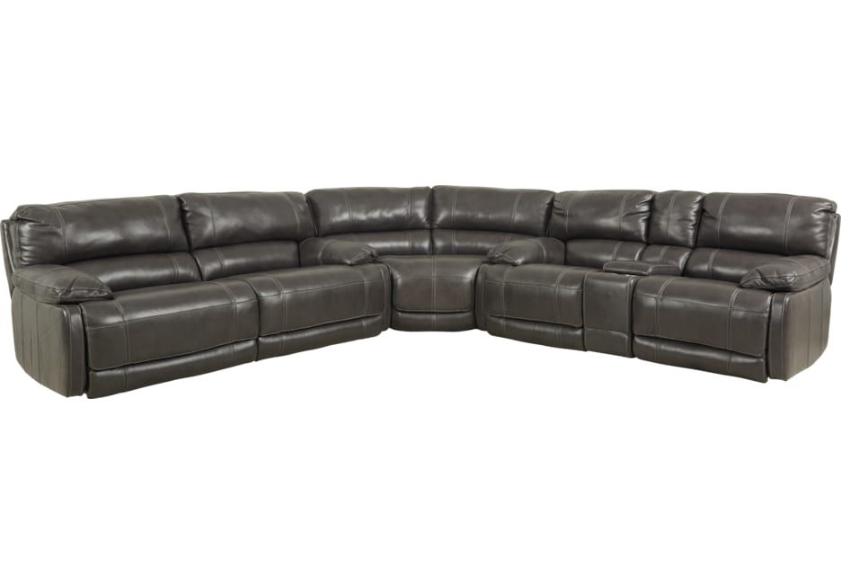 Best Cindy Crawford Home Auburn Hills Steel Leather 3 Pc 400 x 300