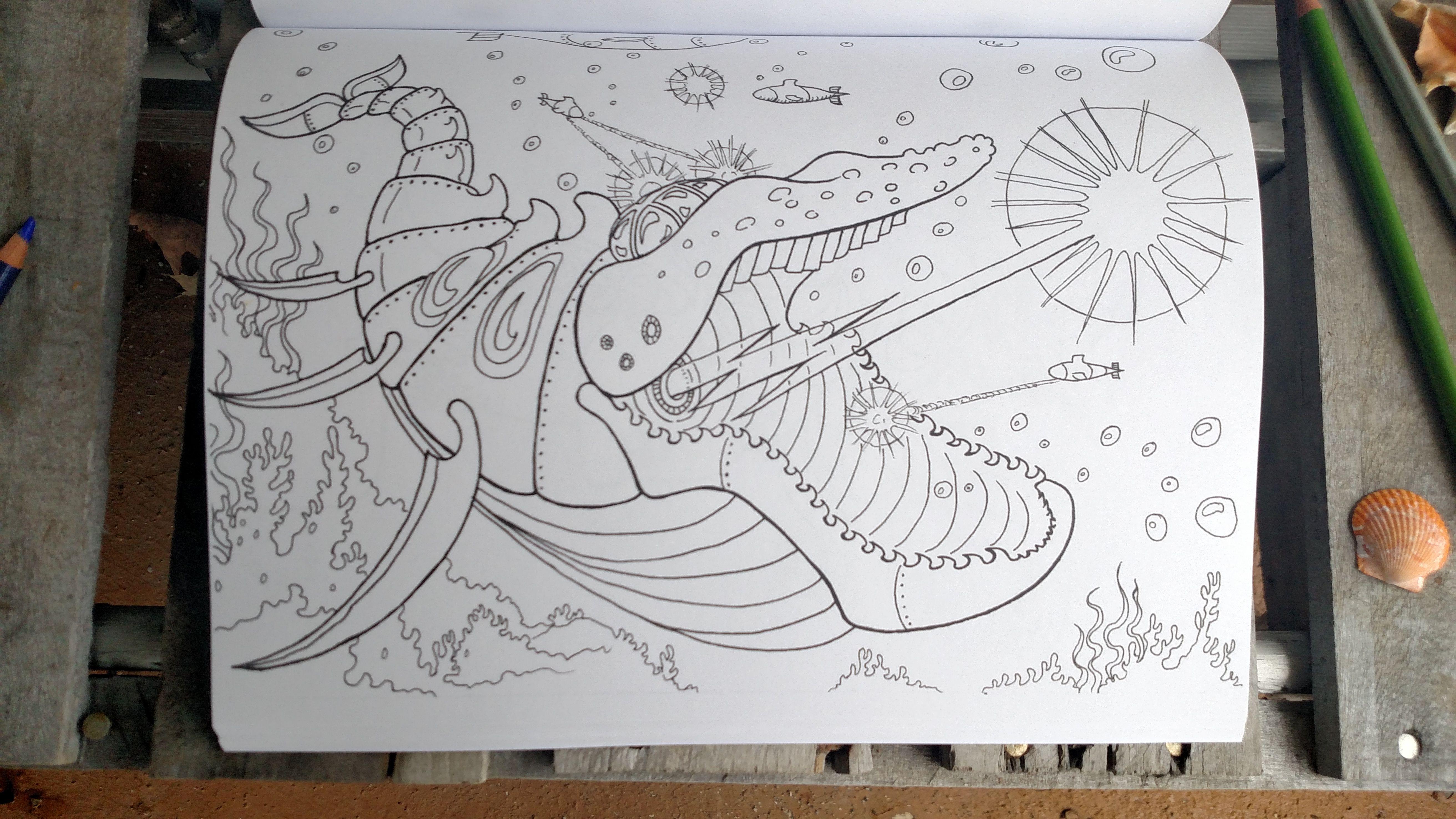 Pin On Dangerous Sea Coloring Book