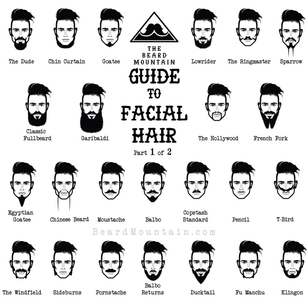 Beard Hairstyles Names Food Ideas Hairstyle Names Mens Facial Hair Styles Types Of Facial Hair