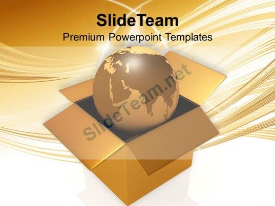 International Shipping Golden Globe In Box Powerpoint Templates Ppt Themes And Graphics 0213 #PowerPoint #Templates #Themes #Background