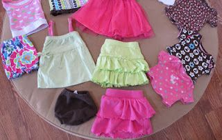 from baby clothes to American Girl 18 inch doll clothes ....so easy!! #bedfalls62