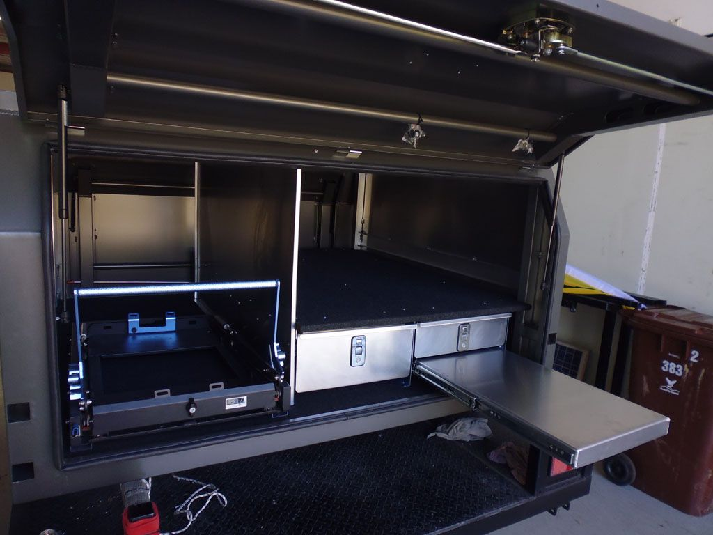 Canopy Radio System : Custom made drawers wd kitchen system under