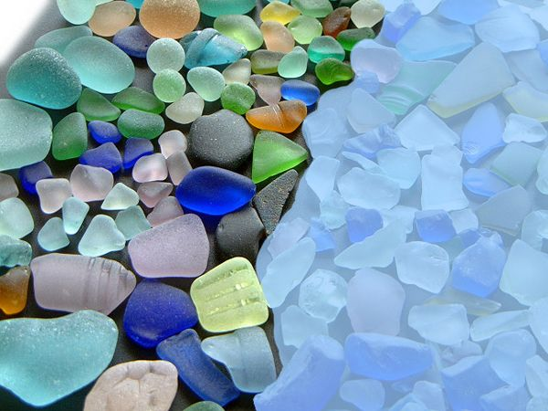 Real & Artificial Sea Glass