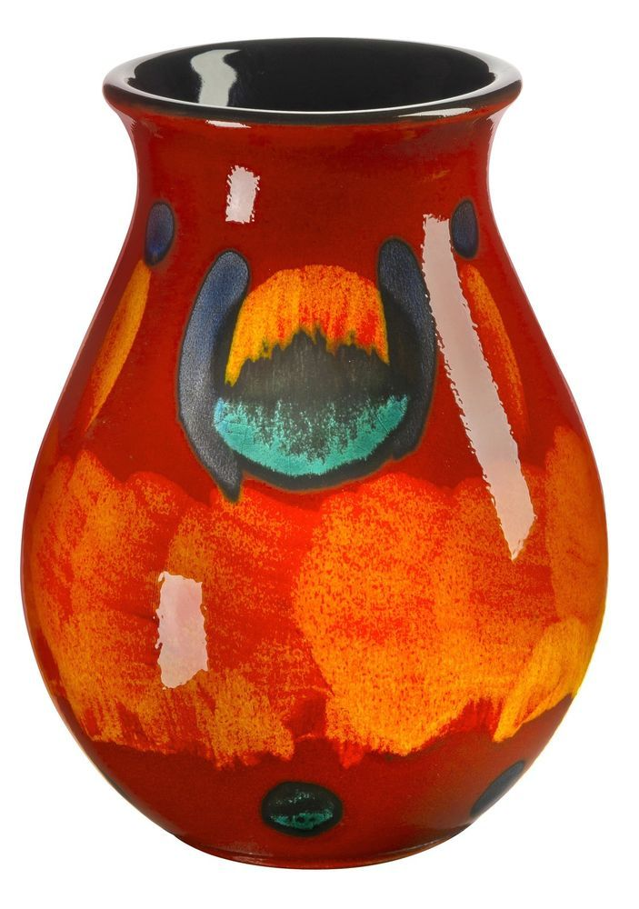 Poole Pottery Volcano Ceramic Small Venetian Vase 16 5cm First Quality Uk Made