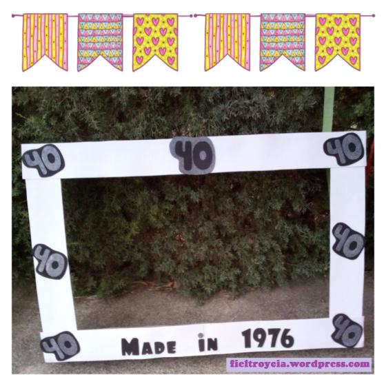 marco-photocall-40-anos | decoración | Pinterest | Manualidades ...