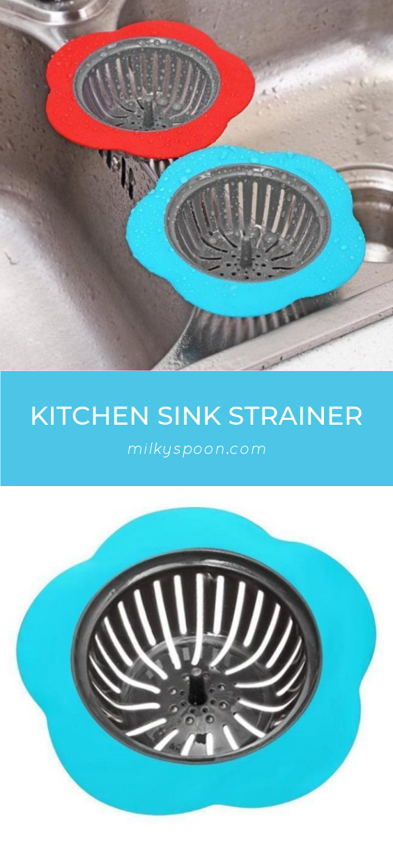 Add a little style to your kitchen sink with these colorful Kitchen Sink Strainers! These strainers are cute as well as functional and they stay in place so that your drain remains clog free.  #clogfree #combattingclogs #cuteandfunctional #drainstopper #getcozyandclean #keepitclean #kitchensinkstrainer #preventclogging #sinkdrainstrainer #sinkfilterplug #sinkstrainer