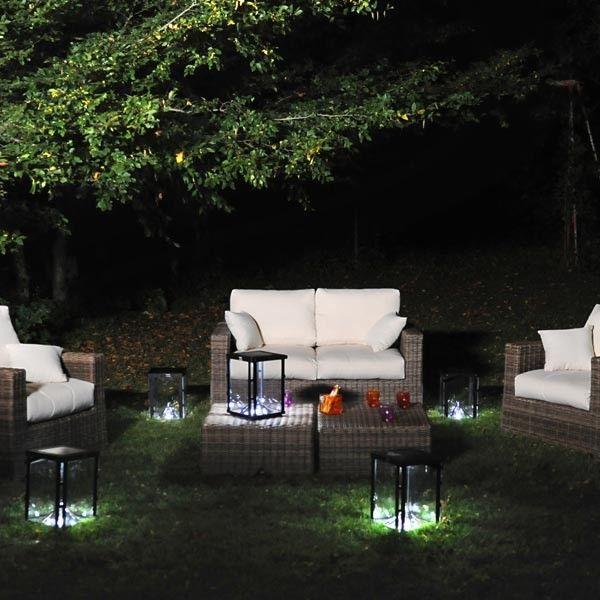 Lampe solaire de jardin Lantern Solar #lumière #jardin #outdoor - cube lumineux solaire exterieur