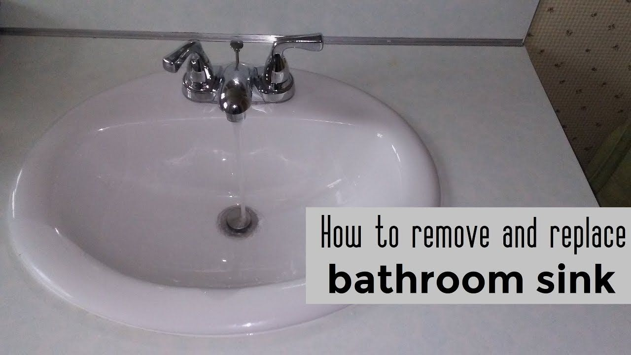 How To Remove And Replace A Bathroom Sink Diy Video Diy Sink Youtube Bathroom Sink Diy Replace Bathroom Sink Sink