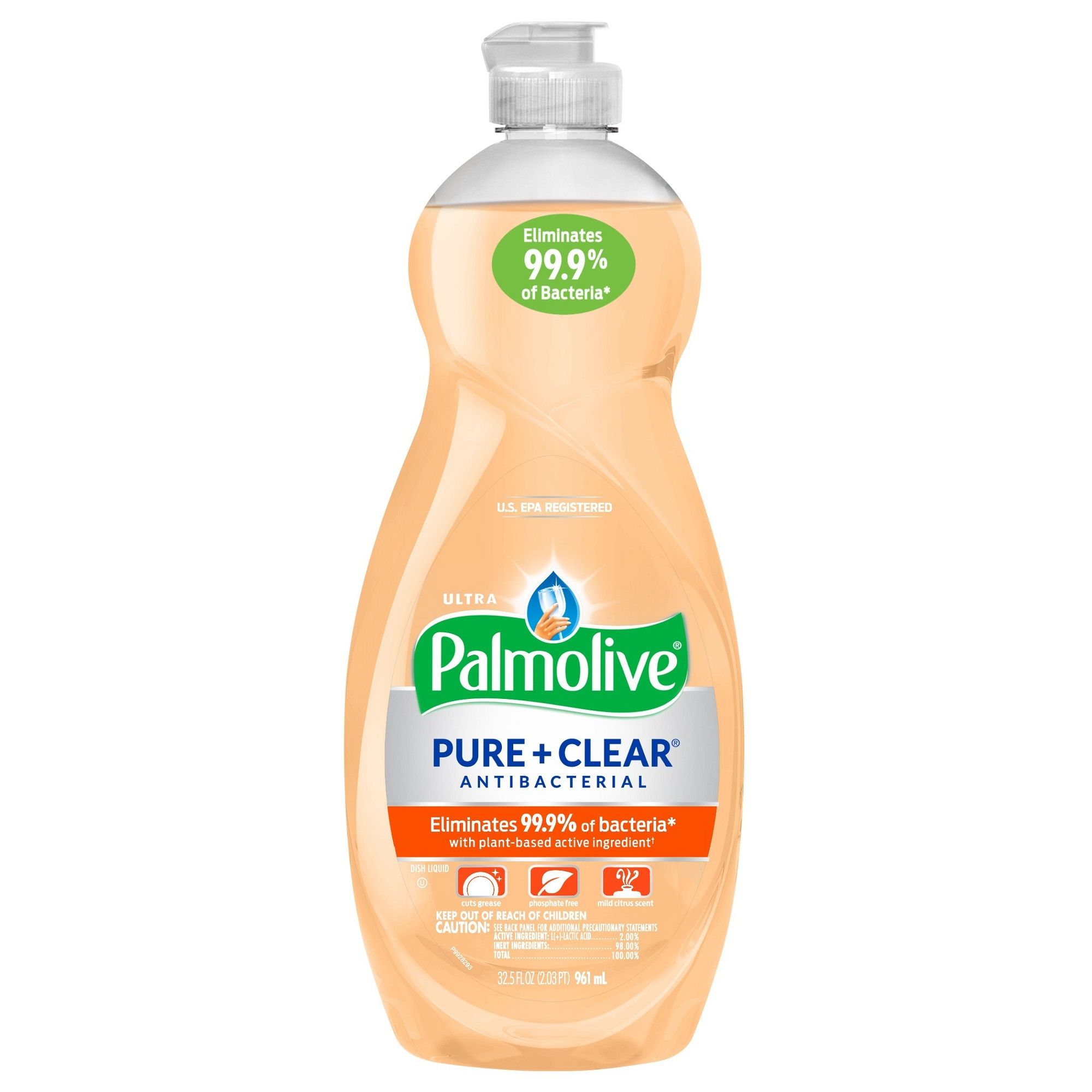 Palmolive Ultra Pure Clear Antibacterial Dish Soap 32 5oz