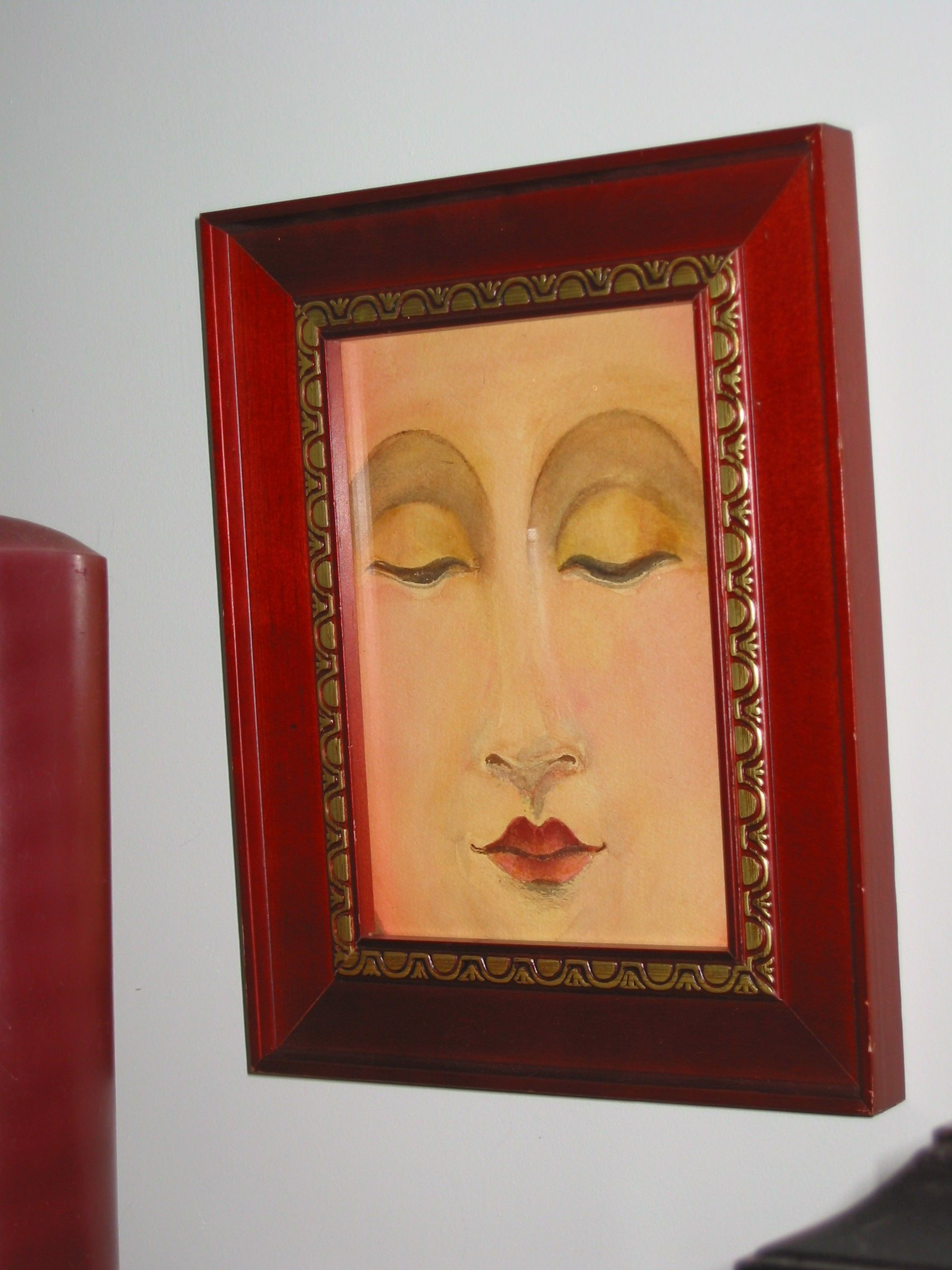 Beautiful Buddha Watercolor 6x9 art frame under glass $80.00 plus ...