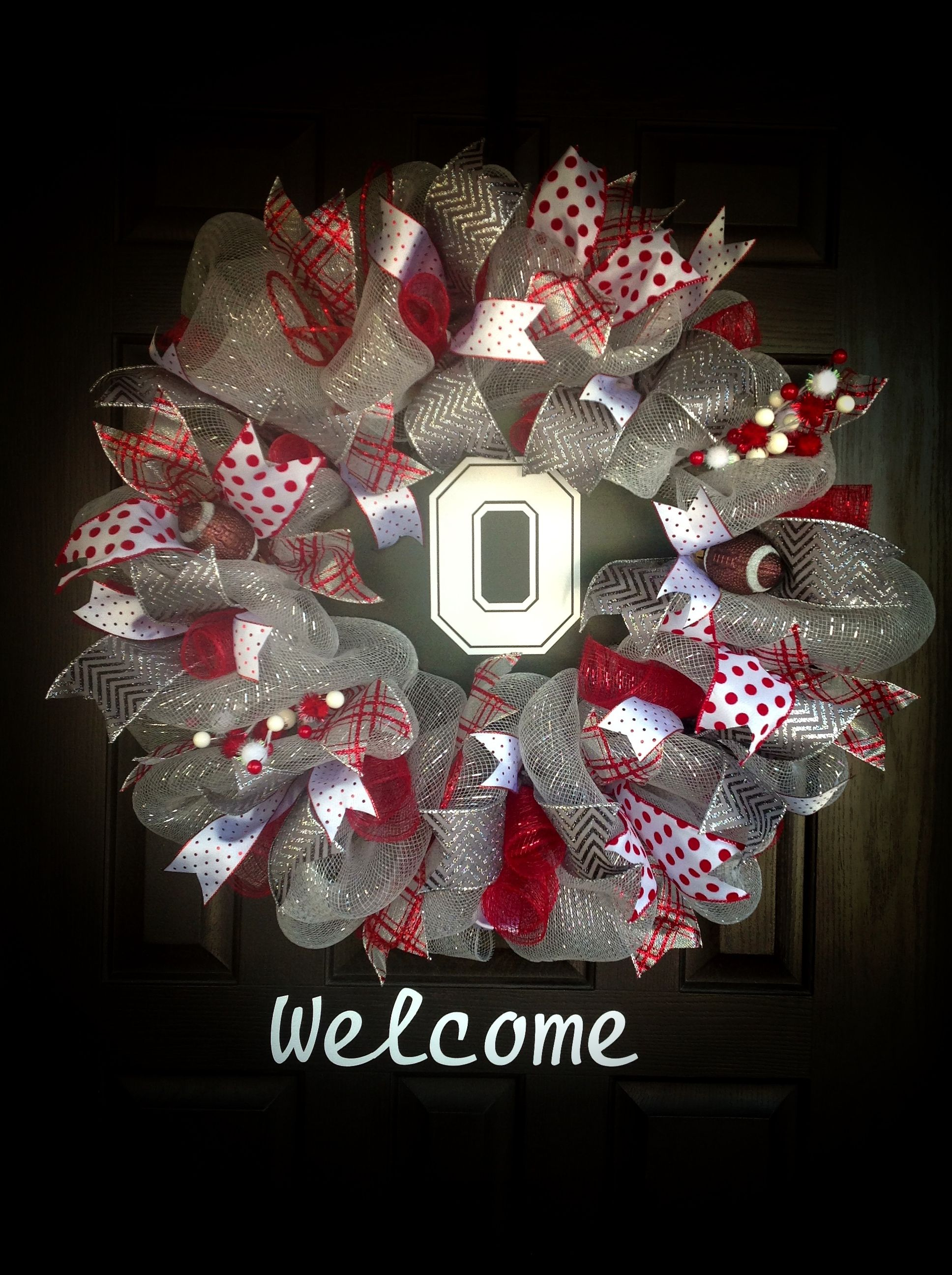 Ohio state wreath | Wreath's and more.By-J.Wolfe | Pinterest ...