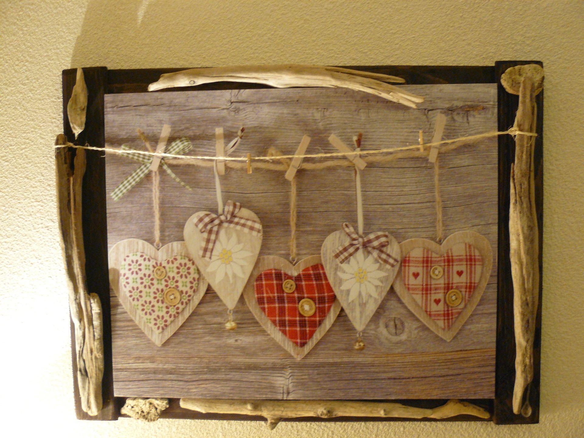 Cadre coeur d co en palette et bois flott cr ation for Fabriquer un cadre photo en bois flotte