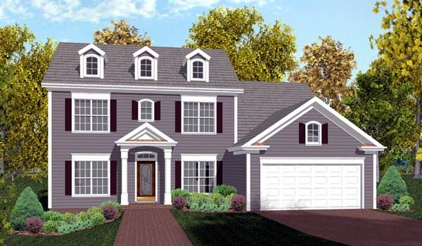 Colonial House Plan 92374 Cars House plans and Beautiful homes