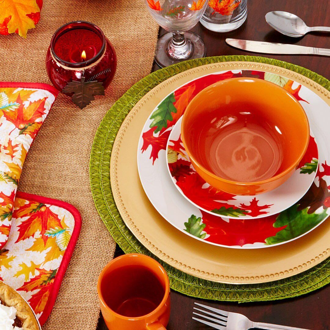 Dollar Tree On Instagram As The The Summer Leaves Slowly Start To Change So Should Your Table Setting Li Fall Table Settings Dollar Tree Table Settings