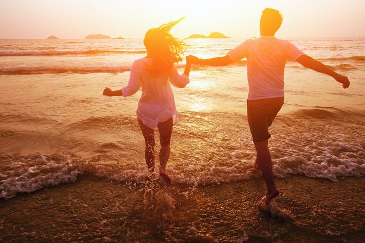 Happiness is taking a quick run with our better half on a beach & the setting sun!  When did you had your epiphany? Do share!    #sunsets #beach #nature #photography #ig #pics #sky #couple #landscape #love #naturephotography #travel #sunsetlover #beach #sun #beautiful #clouds #photooftheday #travelphotography #sunsetlovers #landscapephotography #naturelovers #instagood #picoftheday #photo #sunsetphotography #photographer #summer #sea #bhfyp