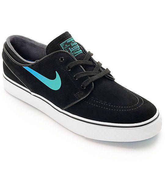 2d454503db4 Nike SB Janoski Black   Hombre Blue Suede Women s Skate Shoes ...