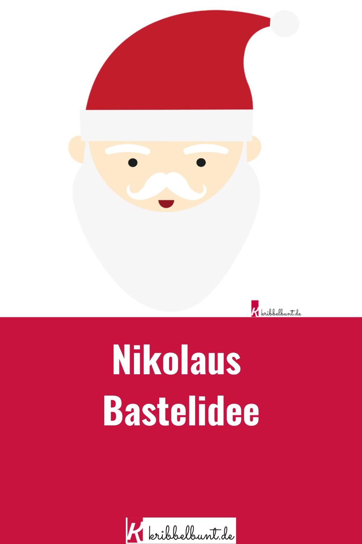 Nikolaus Bastelvorlage Basteln Mit Kindern In 2020 Nikolaus Basteln Vorlage Nikolaus Basteln Basteln