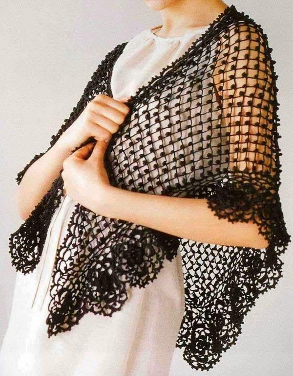 Crochet Shawls: Crochet Shawl - Elegant Silver Silk Shawl - Free ...