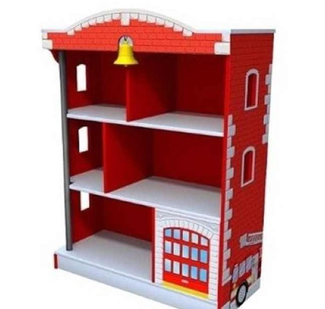 A little paint and this old bookcase is a firehouse All you need