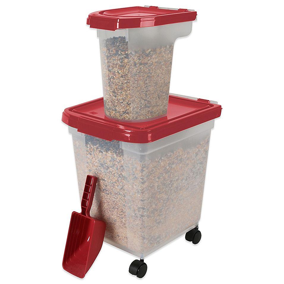 Iris 3 Piece Airtight Bird Food Storage Combo Pack In Garnet
