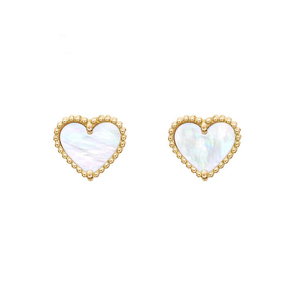Van Cleef & Arpels Sweet Alhambra Heart Earstuds