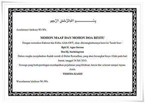 Contoh Ucapan Mohon Maaf Dan Doa Restu Berangkat Haji Nurislam