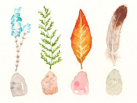 """As my dog Sid is healing from recent surgery and lying at my feet, I've  been sitting at my desk a lot, perusing my favorite design blogs and Etsy.  When I happened upon this watercolor painting by Zuhal Kanar of Houston,  Texas, I immediately connected to the peace, calm and hopeful energy it  exuded. I wanted to share...  Zuhal describes her work as """"bright, colorful and modern design."""" I  especially like her flowered plant paintings. A pretty simplicity is never  overrated....  As Zuhal…"""