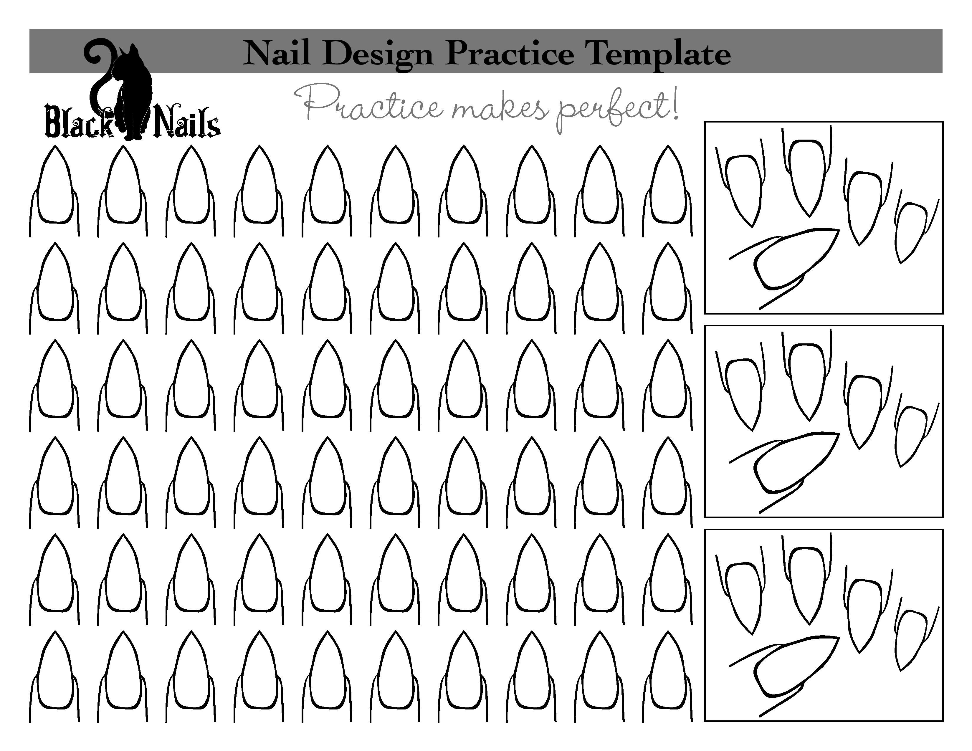 Planche d'entrainement nail art