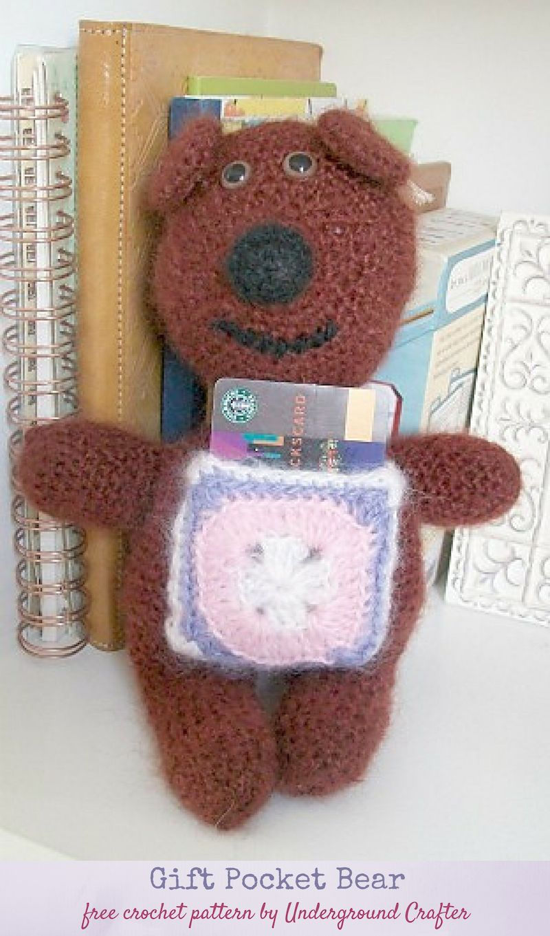 Crochet Pattern: Gift Pocket Bear | Pinterest