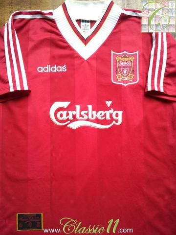 30fc5f111f5 Relive Liverpool s 1995 1996 season with this original Adidas home football  shirt.