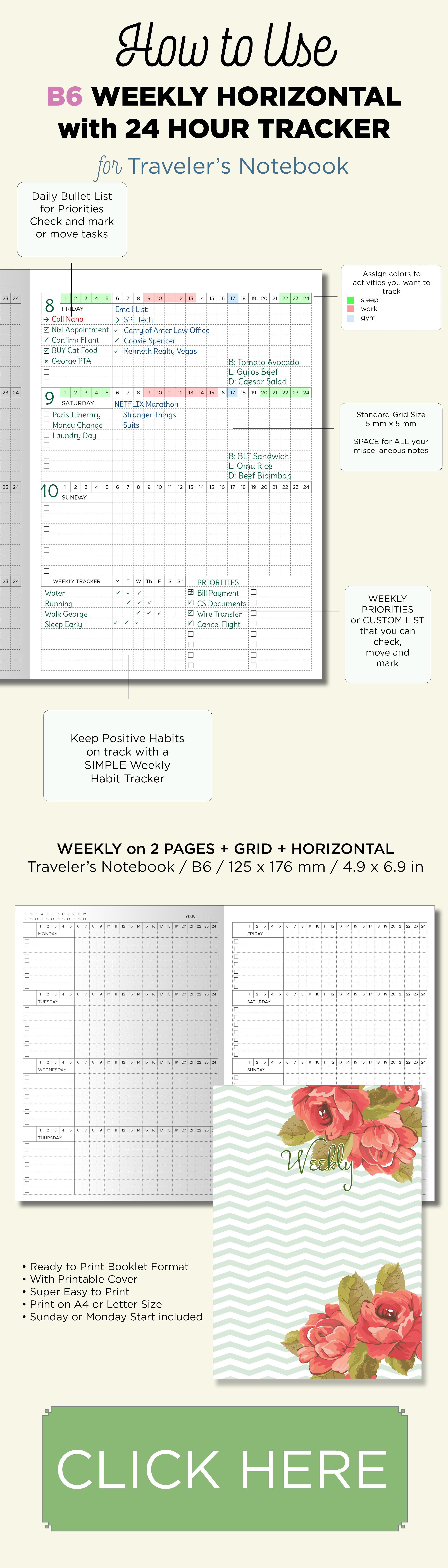 B6 Week View Grid