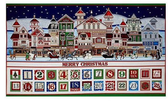 Santa is Coming to Town - Advent Calendar Panel #supplies @EtsyMktgTool http://etsy.me/2rJkXoF