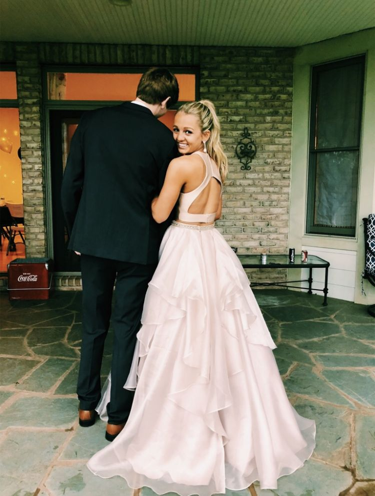 Pin by emily howard on prom pics   Piece prom dress, Prom couples, Simple prom dress
