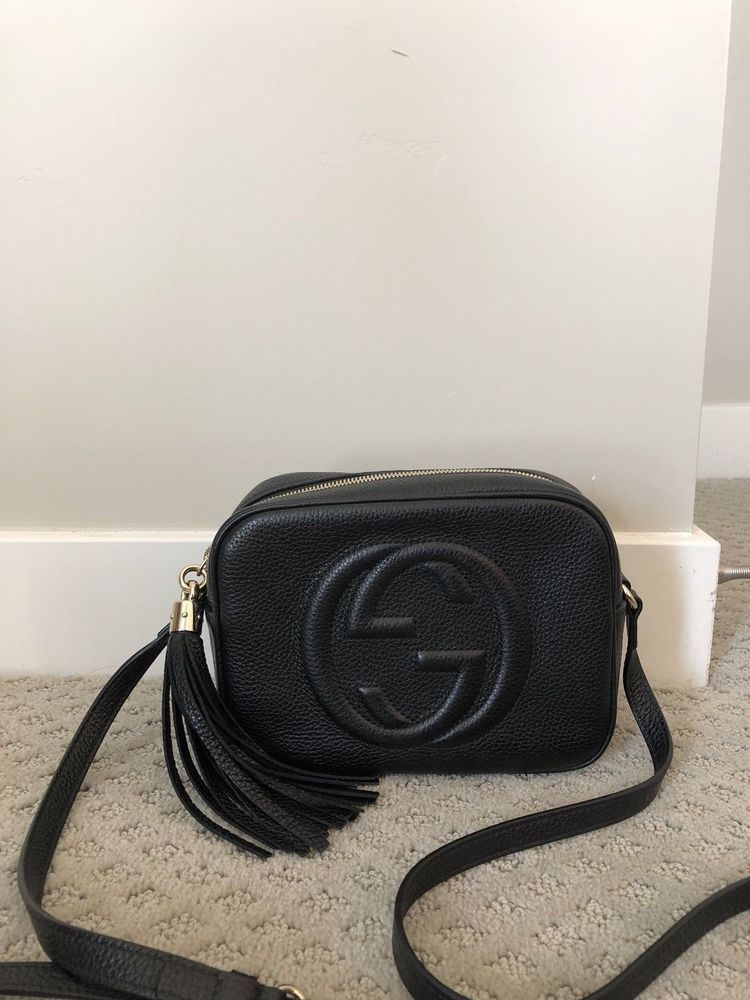 c2d97c5b6f58 NEW GUCCI SOHO SMALL BLACK LEATHER DISCO CROSSBODY SHOULDER BAG #fashion  #clothing #shoes #accessories #womensbagshandbags (ebay link)