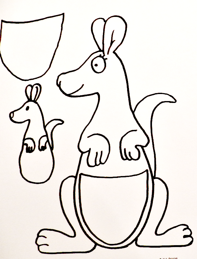 K is for kangaroo preschool fun kangaroo craft kangaroos and curriculum spiritdancerdesigns Images