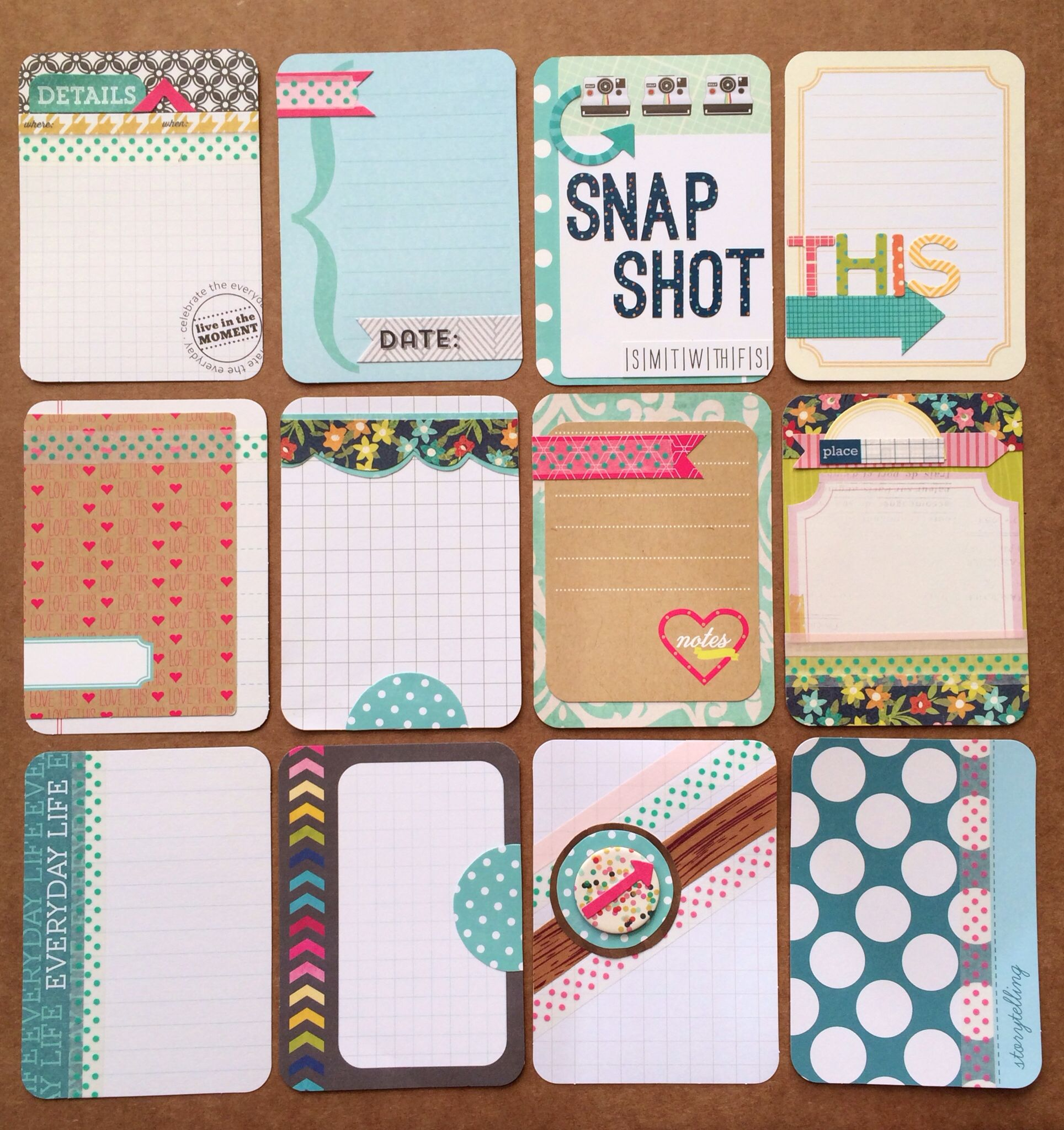 How to make scrapbook look good - Cards