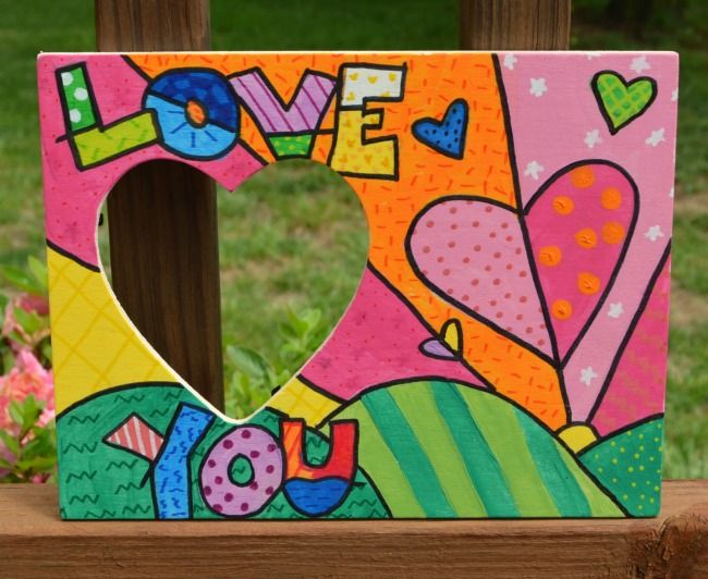 Art for Kids: Romero Britto Photo Frame | Crafts, Craft ideas and ...