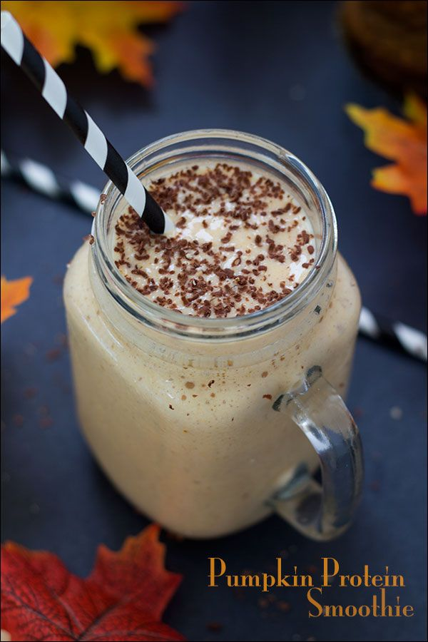 Pumpkin Protein Smoothie   Healthy and Protein Packed  espressomykitchen.com
