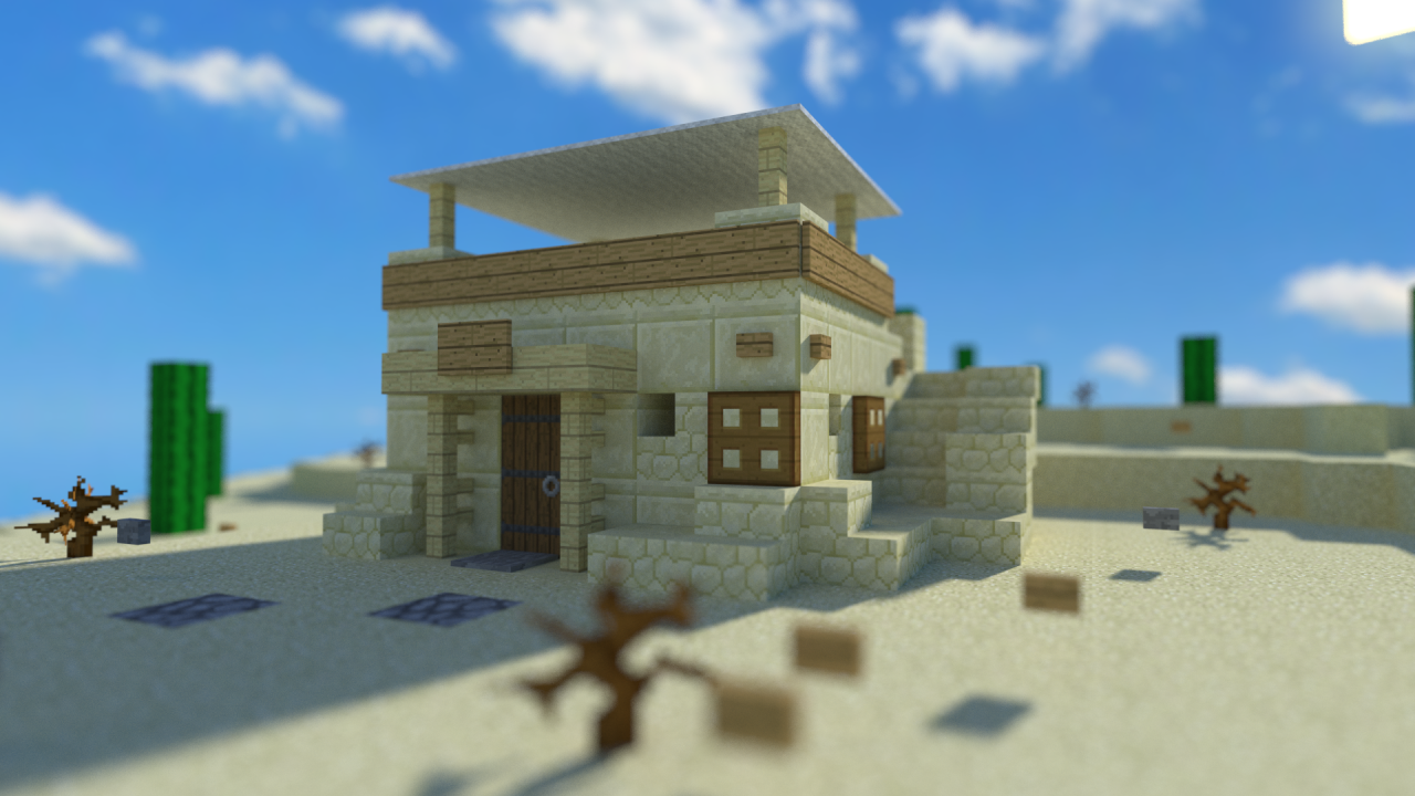 Simple desert house minecraft design pinterest for Minimalist house reddit