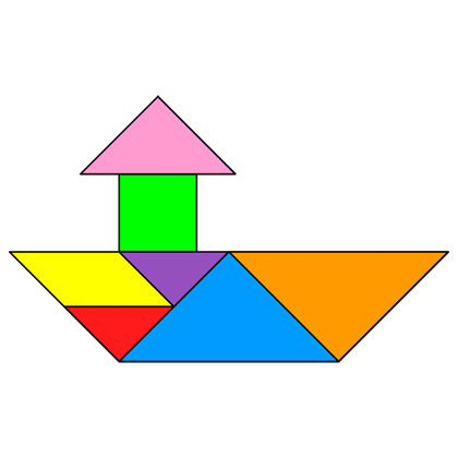 Tangram Tugboat Tangram Solution 82 Providing Teachers And Pupils With Tangram Puzzle Activities Figuras Con Tangram Tangram Imprimible Tangram