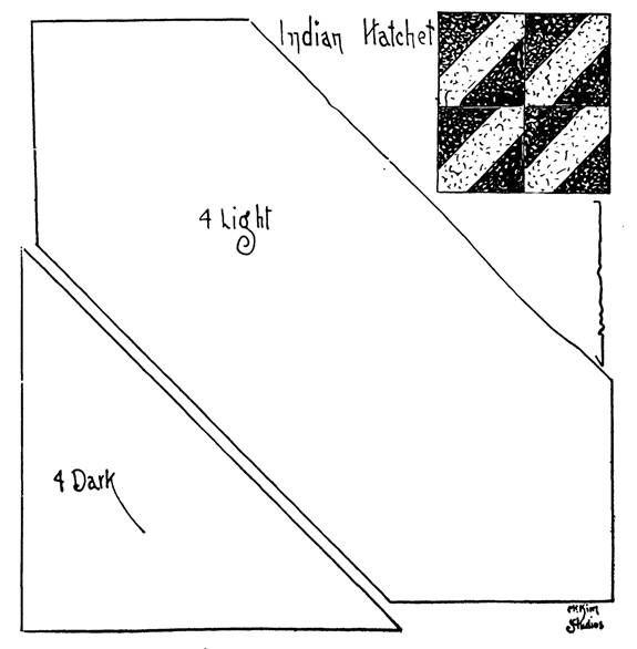 Quilt Pattern Indian Hatchet  Quilts Indian Hatchet