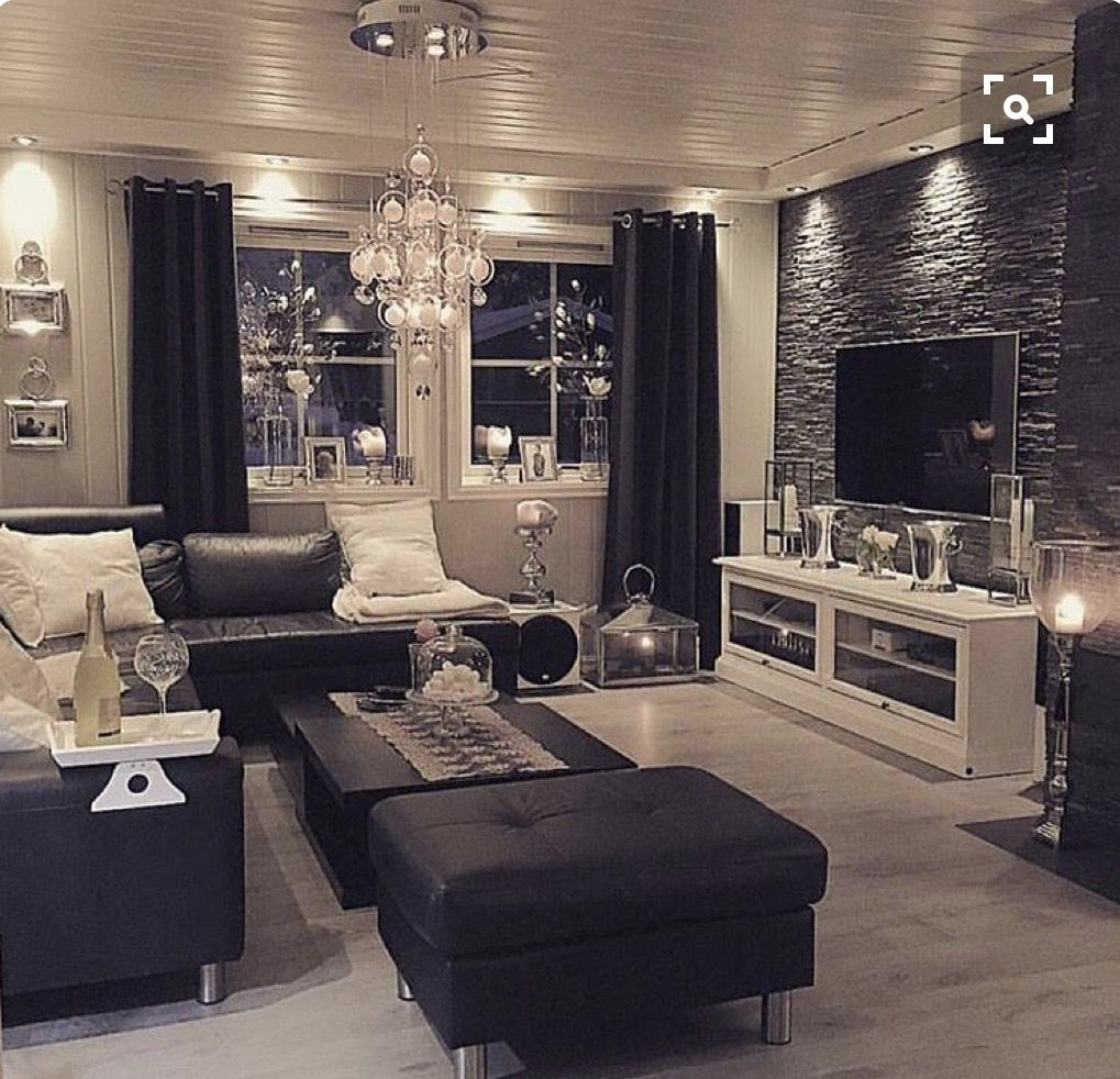 I D Like A Faux Stone Wall Over The Fireplace For Behind The Tv Luxury Living Room Home Living Room Designs