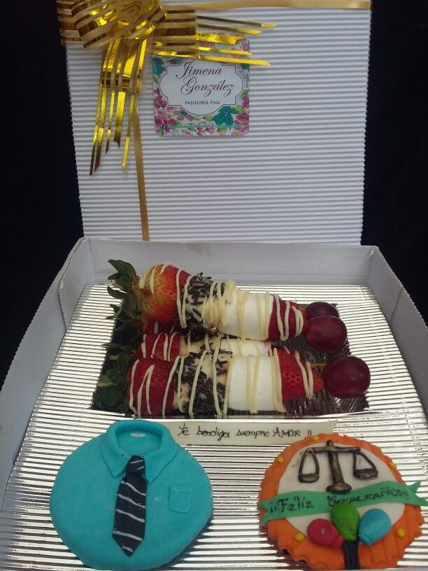 Cupcakes Lawyer y brochetas
