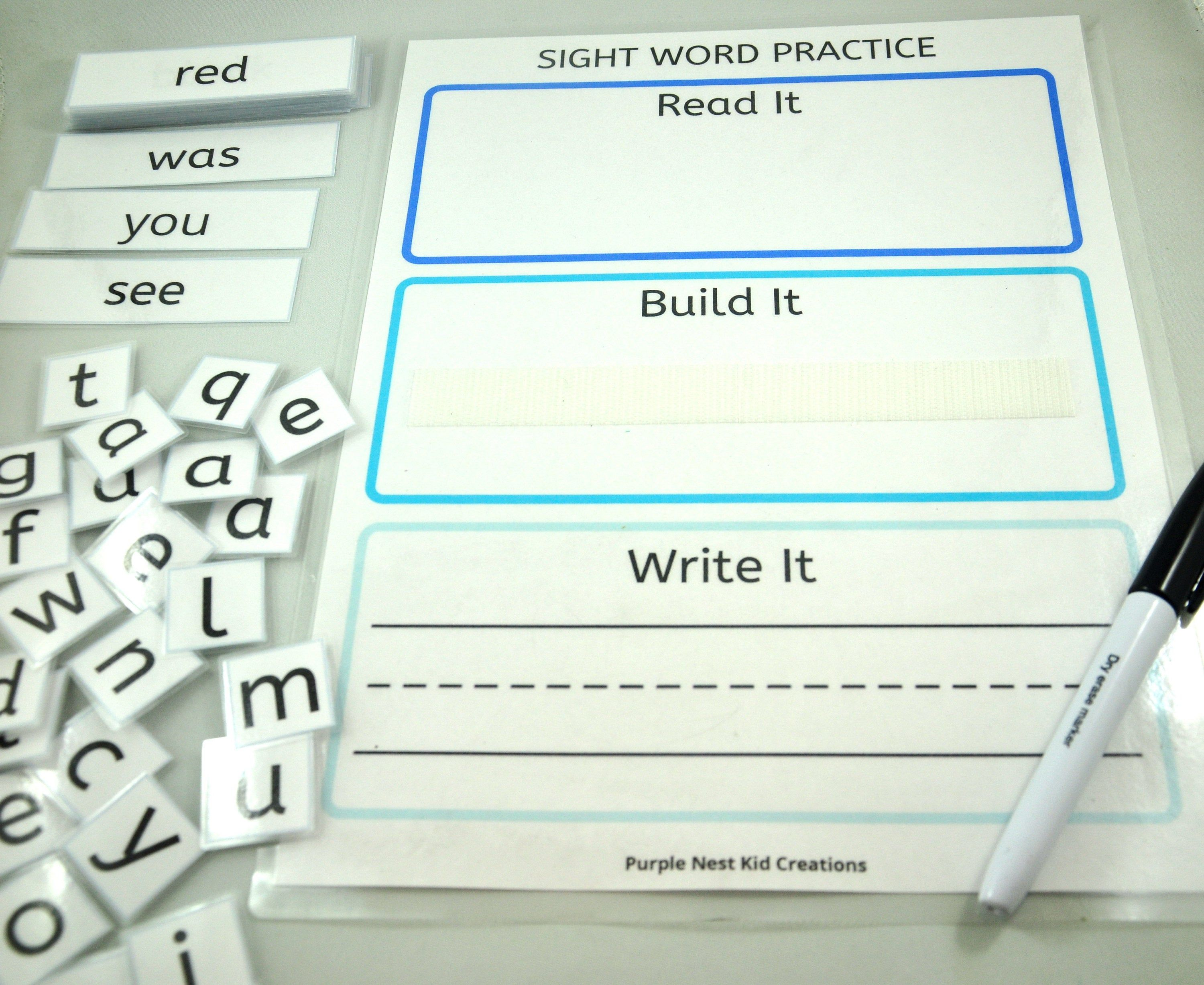 Sight Word Practice Worksheet Printable Spelling Game