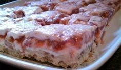 Strawberry-Rubarb & Cream Bars