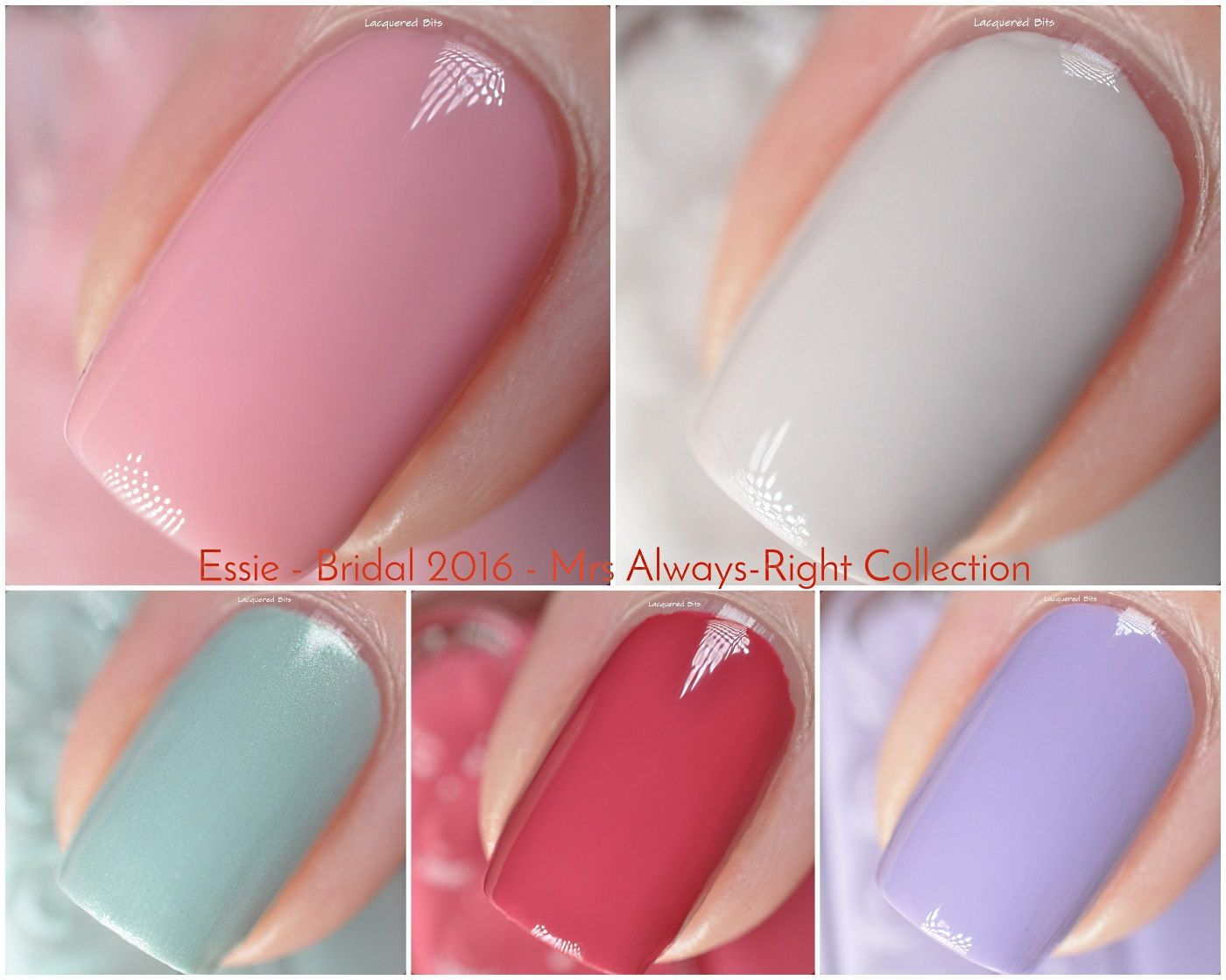 essie bridal 2016 mrs always right collection swatches review