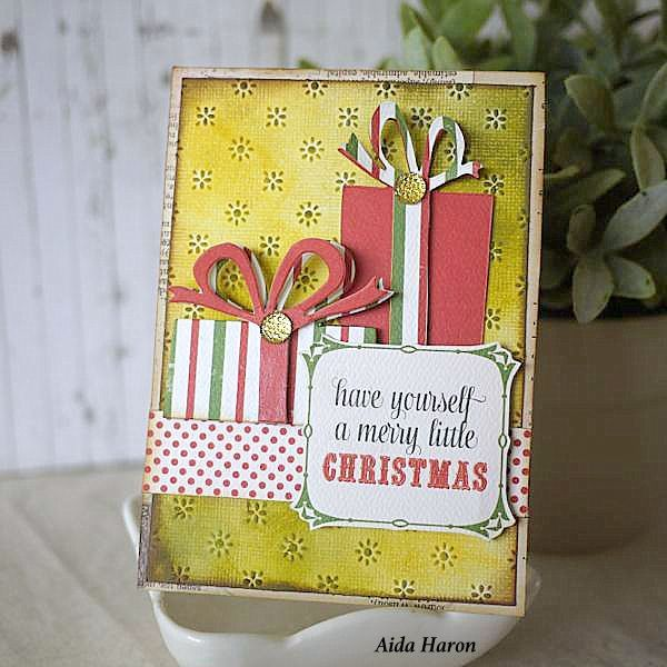 Sizzix Inspiration   Retro Packages Card by Aida Haron
