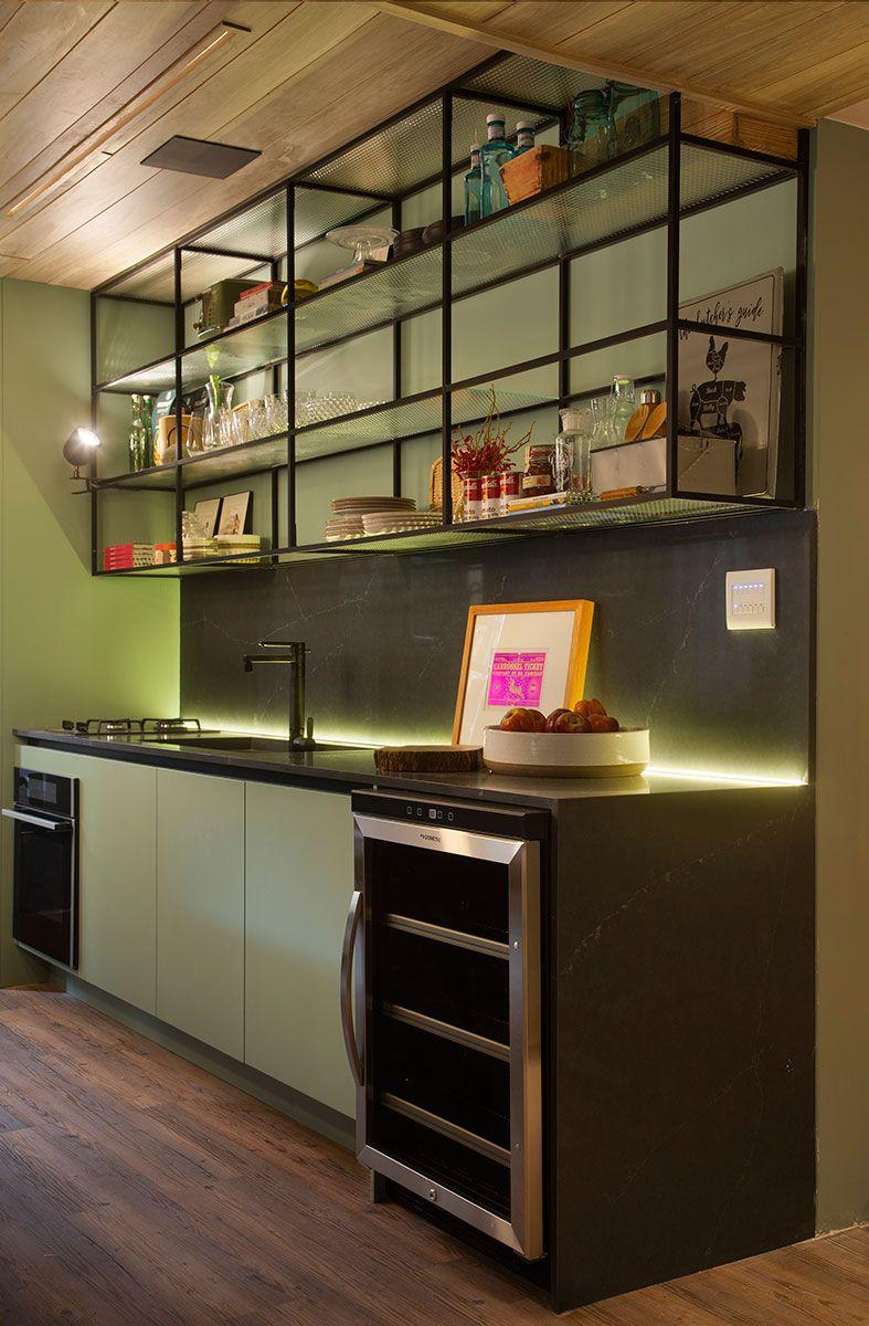 Living Sage Casacor Com Imagens Armarios Verdes Cozinha