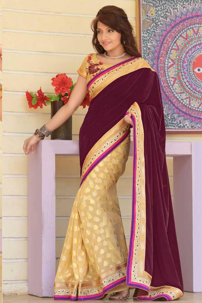 New Saree Sari indien usure ethnique Créateur Mariage Fête Bollywood Choli Sari J