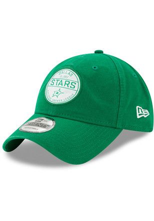 new product 3f3ea 7b1d1 New Era Dallas Stars Mens Green Core Standard 9TWENTY Adjustable Hat